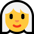 Woman, White Haired on Microsoft Windows 10 October 2018 Update