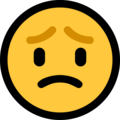 Worried Face on Microsoft Windows 10 October 2018 Update