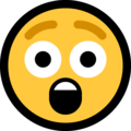 Astonished Face on Microsoft Windows 10 May 2019 Update