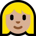Woman: Medium-Light Skin Tone, Blond Hair on Microsoft Windows 10 May 2019 Update