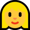 Woman: Blond Hair on Microsoft Windows 10 May 2019 Update
