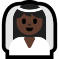 Person With Veil: Dark Skin Tone on Microsoft Windows 10 May 2019 Update