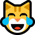 Cat Face With Tears of Joy on Microsoft Windows 10 May 2019 Update