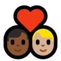 Couple With Heart - Man: Medium-Dark Skin Tone, Man: Medium-Light Skin Tone on Microsoft Windows 10 May 2019 Update
