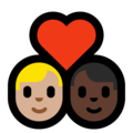 Couple with Heart: Man, Man, Medium-Light Skin Tone, Dark Skin Tone on Microsoft Windows 10 May 2019 Update