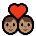 Couple With Heart - Man: Medium Skin Tone, Man: Medium Skin Tone on Microsoft Windows 10 May 2019 Update