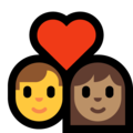 Couple With Heart - Man: No Skin Tone, Woman: Medium Skin Tone on Microsoft Windows 10 May 2019 Update