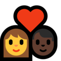 Couple With Heart - Woman, Man: Dark Skin Tone on Microsoft Windows 10 May 2019 Update