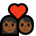 Couple with Heart: Woman, Man, Medium-Dark Skin Tone on Microsoft Windows 10 May 2019 Update