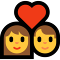 Couple with Heart on Microsoft Windows 10 May 2019 Update