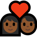 Couple With Heart: Medium-Dark Skin Tone on Microsoft Windows 10 May 2019 Update