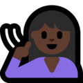 Deaf Woman: Dark Skin Tone on Microsoft Windows 10 May 2019 Update