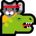 Dino Cat on Microsoft Windows 10 May 2019 Update