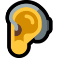 Ear With Hearing Aid on Microsoft Windows 10 May 2019 Update