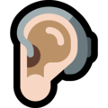 Ear With Hearing Aid: Light Skin Tone on Microsoft Windows 10 May 2019 Update
