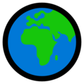 Globe Showing Europe-Africa on Microsoft Windows 10 May 2019 Update