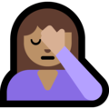 Person Facepalming: Medium Skin Tone on Microsoft Windows 10 May 2019 Update