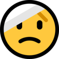 Face With Head-Bandage on Microsoft Windows 10 May 2019 Update