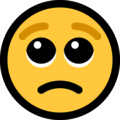 Pleading Face on Microsoft Windows 10 May 2019 Update