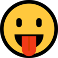 Face with Tongue on Microsoft Windows 10 May 2019 Update