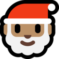 Santa Claus: Medium Skin Tone on Microsoft Windows 10 May 2019 Update