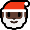 Santa Claus: Dark Skin Tone on Microsoft Windows 10 May 2019 Update