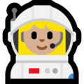 Woman Astronaut: Medium-Light Skin Tone on Microsoft Windows 10 May 2019 Update