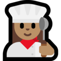 Woman Cook: Medium Skin Tone on Microsoft Windows 10 May 2019 Update