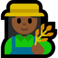 Woman Farmer: Medium-Dark Skin Tone on Microsoft Windows 10 May 2019 Update