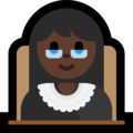Woman Judge: Dark Skin Tone on Microsoft Windows 10 May 2019 Update