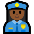Woman Police Officer: Medium-Dark Skin Tone on Microsoft Windows 10 May 2019 Update