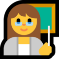 Woman Teacher on Microsoft Windows 10 May 2019 Update