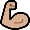 Flexed Biceps: Medium-Light Skin Tone on Microsoft Windows 10 May 2019 Update