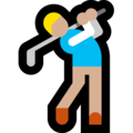 Person Golfing: Medium-Light Skin Tone on Microsoft Windows 10 May 2019 Update