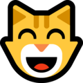 Grinning Cat Face With Smiling Eyes on Microsoft Windows 10 May 2019 Update