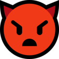 Angry Face with Horns on Microsoft Windows 10 May 2019 Update