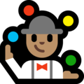 Person Juggling: Medium Skin Tone on Microsoft Windows 10 May 2019 Update