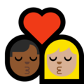 Kiss - Man: Medium-Dark Skin Tone, Woman: Medium-Light Skin Tone on Microsoft Windows 10 May 2019 Update