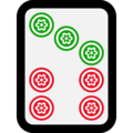 Mahjong Tile Seven of Circles on Microsoft Windows 10 May 2019 Update