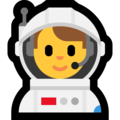 Man Astronaut on Microsoft Windows 10 May 2019 Update