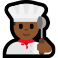 Man Cook: Medium-Dark Skin Tone on Microsoft Windows 10 May 2019 Update