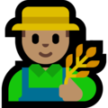 Man Farmer: Medium Skin Tone on Microsoft Windows 10 May 2019 Update