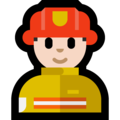 Man Firefighter: Light Skin Tone on Microsoft Windows 10 May 2019 Update