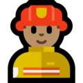 Man Firefighter: Medium Skin Tone on Microsoft Windows 10 May 2019 Update