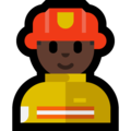 Man Firefighter: Dark Skin Tone on Microsoft Windows 10 May 2019 Update