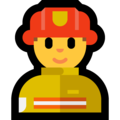 Man Firefighter on Microsoft Windows 10 May 2019 Update