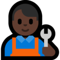 Man Mechanic: Dark Skin Tone on Microsoft Windows 10 May 2019 Update