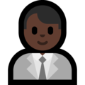 Man Office Worker: Dark Skin Tone on Microsoft Windows 10 May 2019 Update
