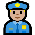 Man Police Officer: Medium-Light Skin Tone on Microsoft Windows 10 May 2019 Update