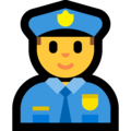 Man Police Officer on Microsoft Windows 10 May 2019 Update